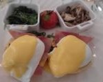 Egg Benedict at Tiffin Room Raffles Hotel Singapore
