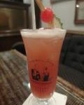 The original Singapore Sling at Long Bar Raffles Hotel