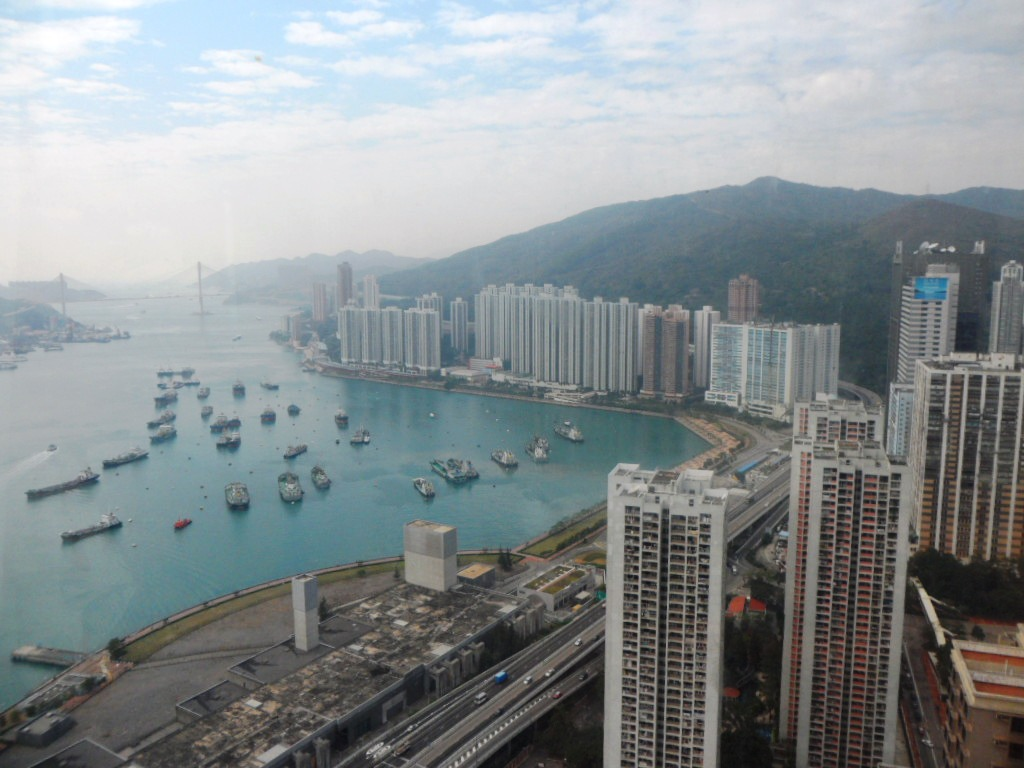 View of Tsuen Wan Harbour from L Hotel Nina Convention Centre Hong Kong