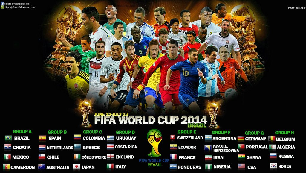 World Cup 2014 Groupings