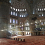 Interior of Sultan Ahmed Blue Mosque