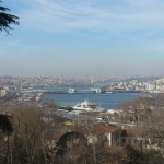 View of Bosphorus River from Topkapi Palace