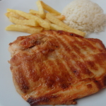 Grilled chicken with fries for lunch at Citadel Hotel Istanbul
