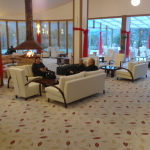 Lycus River Hotel Lobby with Fireplace