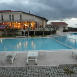 Pool and Restaurant of Lycus River Hotel Pamukkale