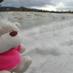 Kate and the travertines of Pamukkale