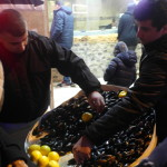 Roadside mussel stores at istiklal shopping street