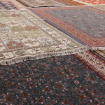 Variety of Turkish carpets made with double knots cotton, wool or silk