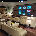 Lounge Istanbul with multiple TV screens