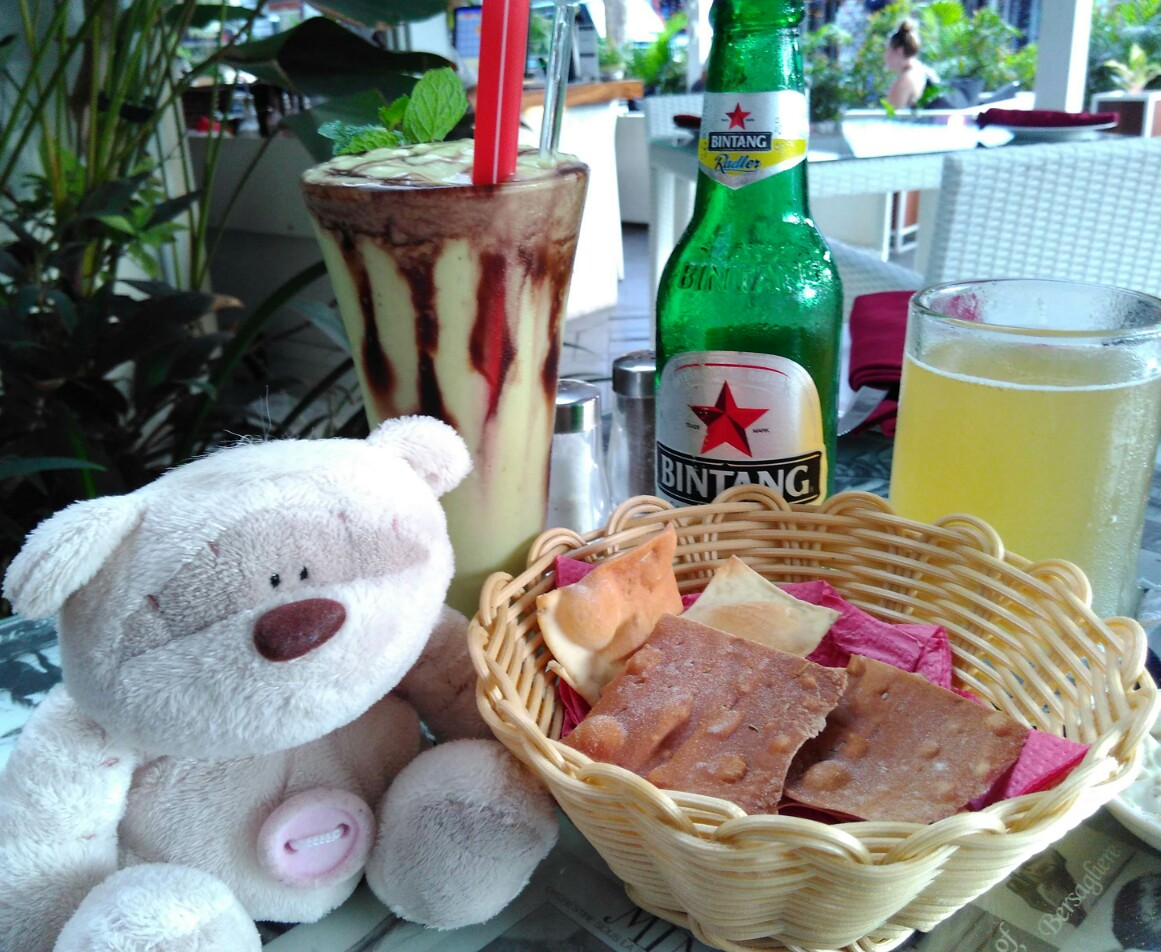 Avocado juice and Bintang Radler