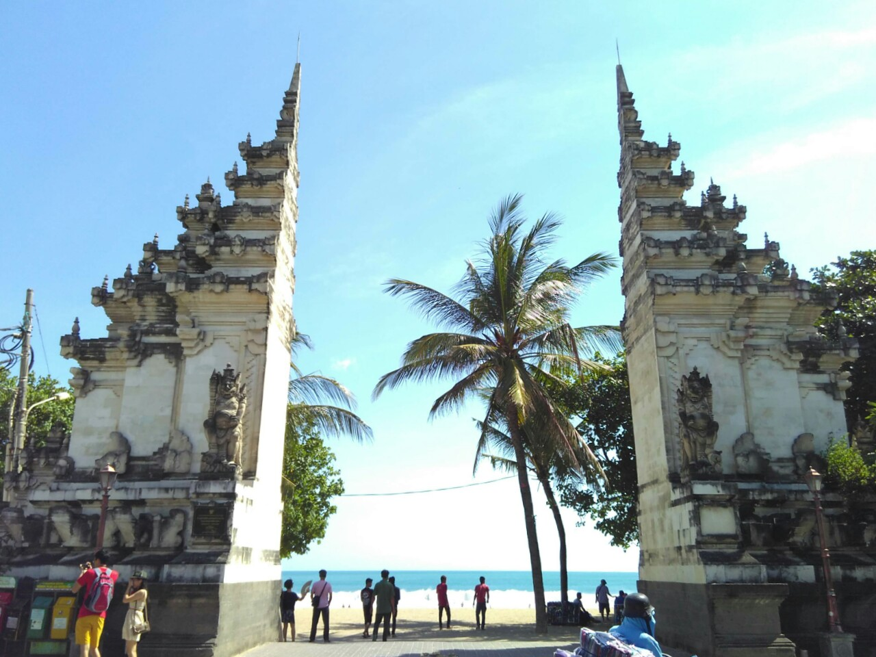 Iconic Gate at Kuta Beach