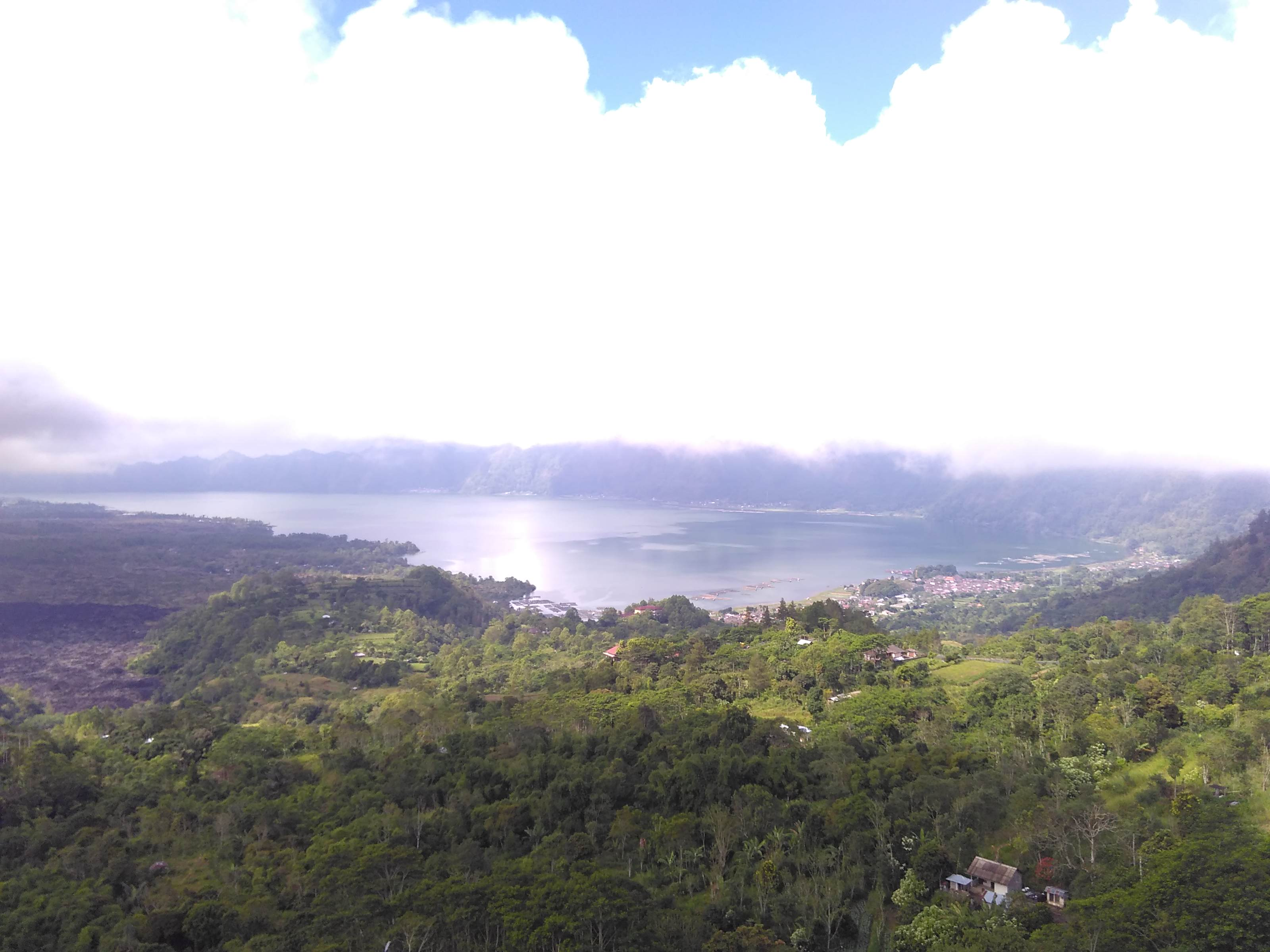 View of Lake Batur from Kintamani