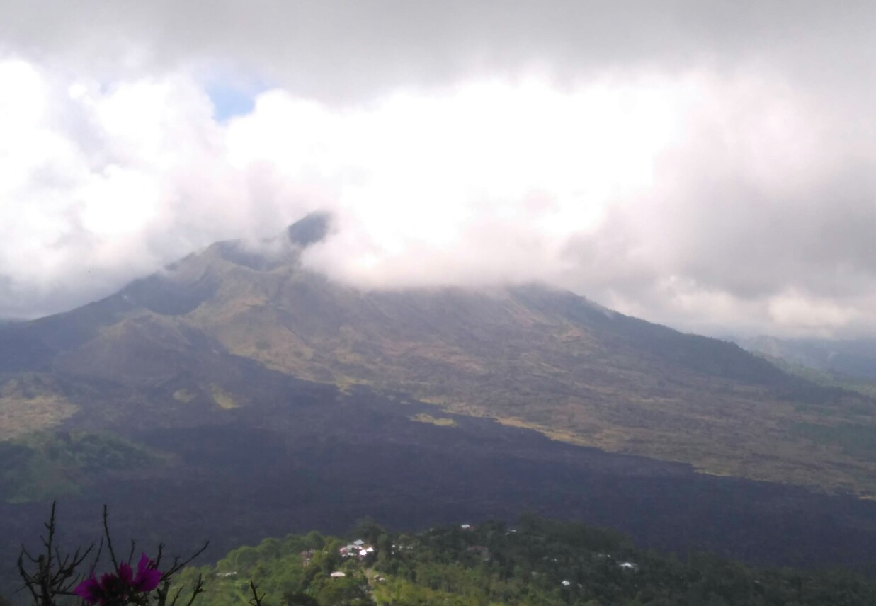 Mount Batur Volcano seen from Kintamani