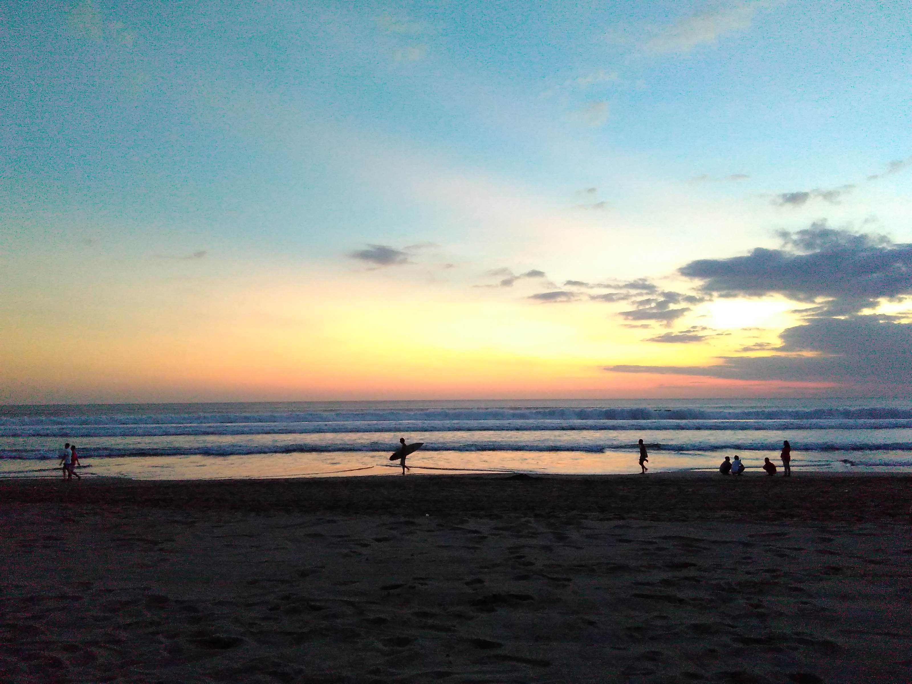 Surfers at Legian Beach Bali