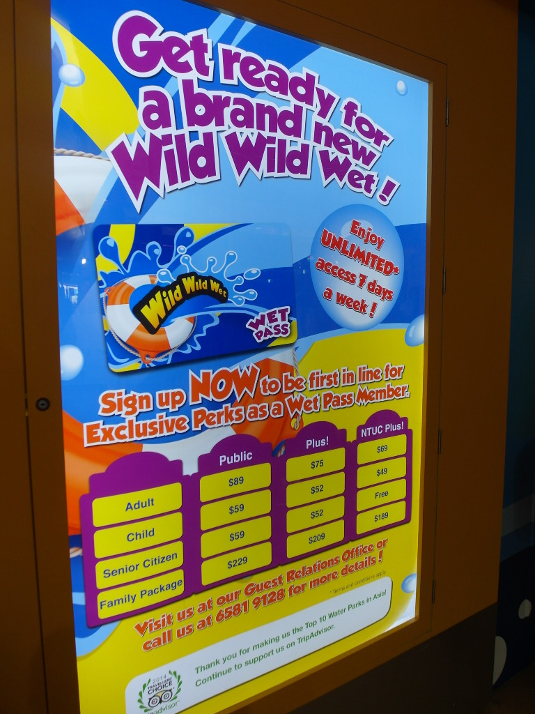 Rates for Annual Passes at Wild Wild Wet
