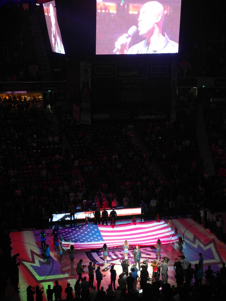 The star spangled banner sung by Montell Jordan