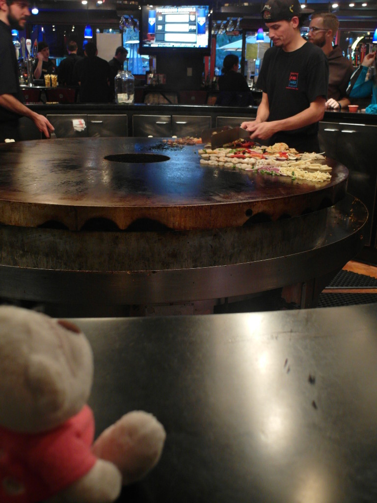 52. Bear checking out the chefs at Fire and Ice Bar and Grill Lake Tahoe