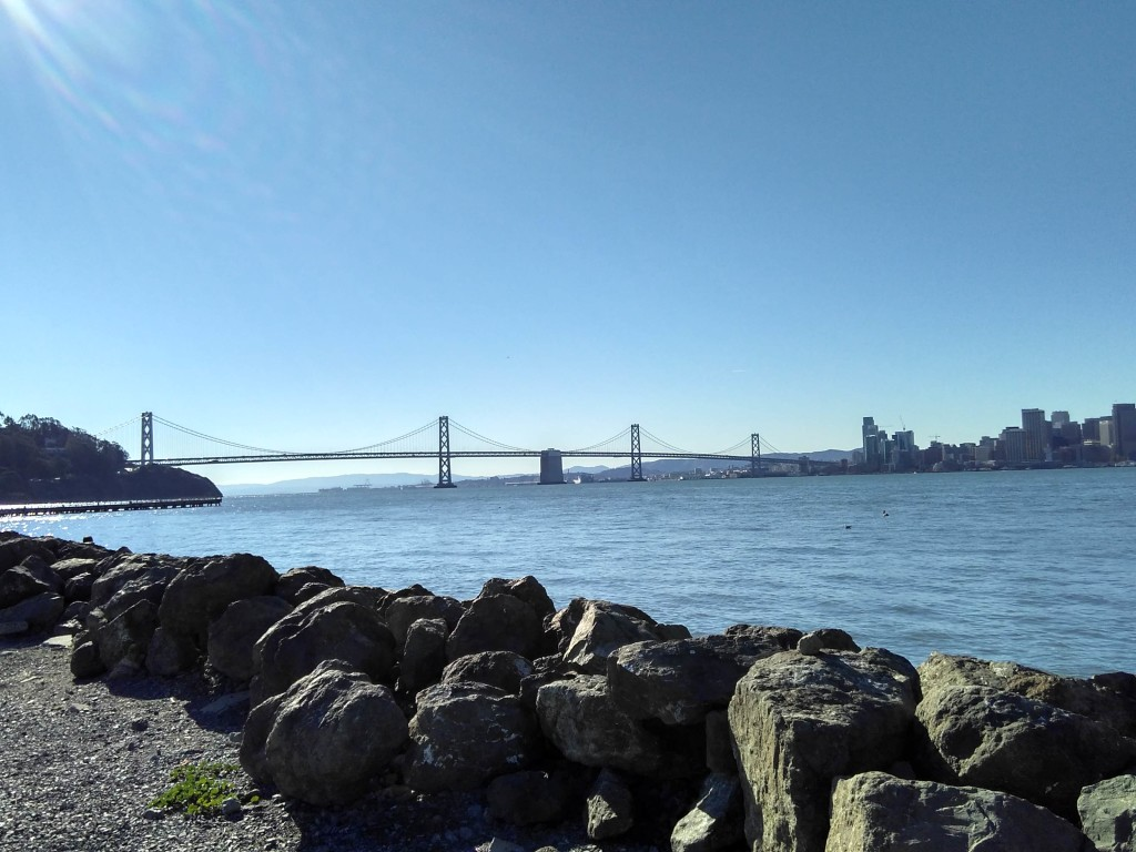 Views of San Francisco Bay from Treasure Island