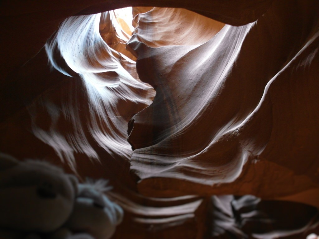 Bears and heart Upper Antelope Canyon