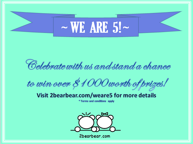 2bearbear We Are 5 Giveaway!
