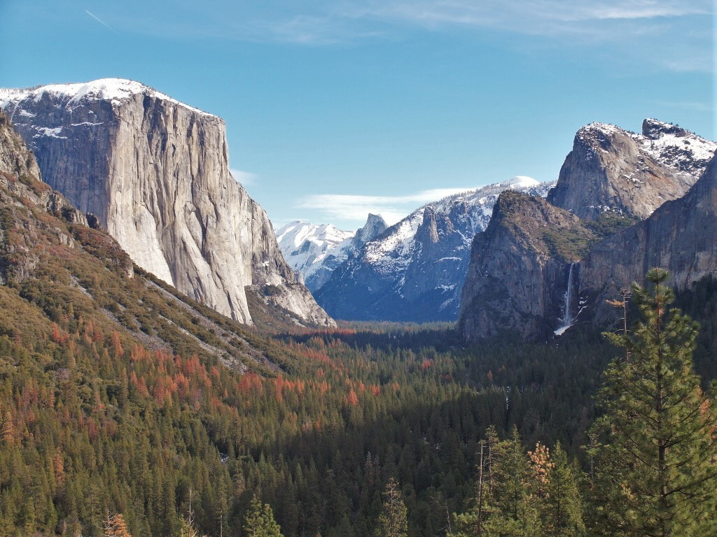 The most famous Tunnel View at Yosemite National Park