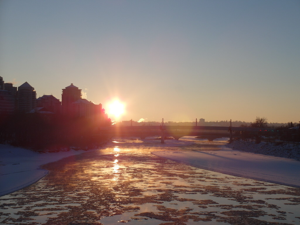 Sunset and Bow River
