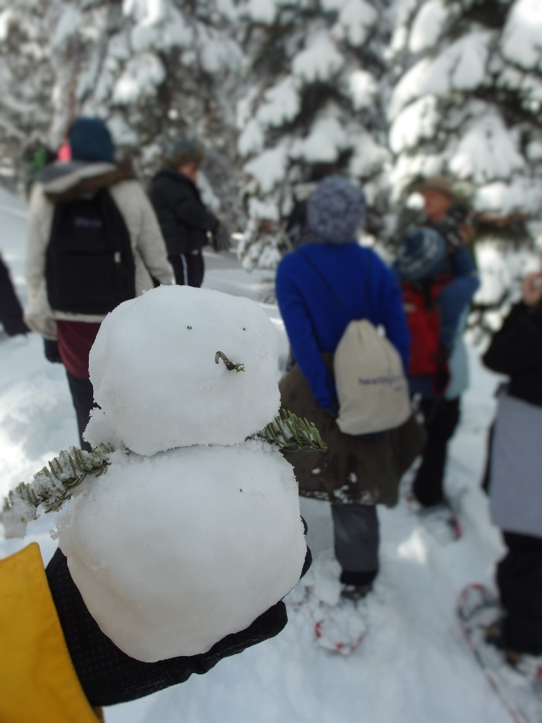 Making a snowman along the way