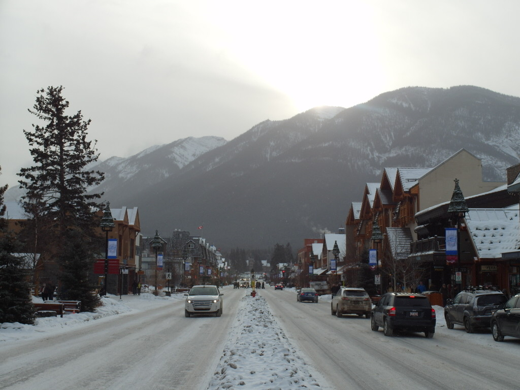 One end of Banff downtown
