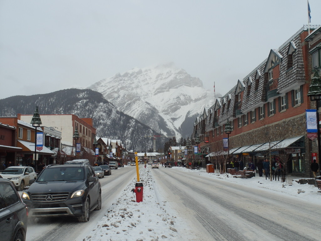 The other end of Banff downtown