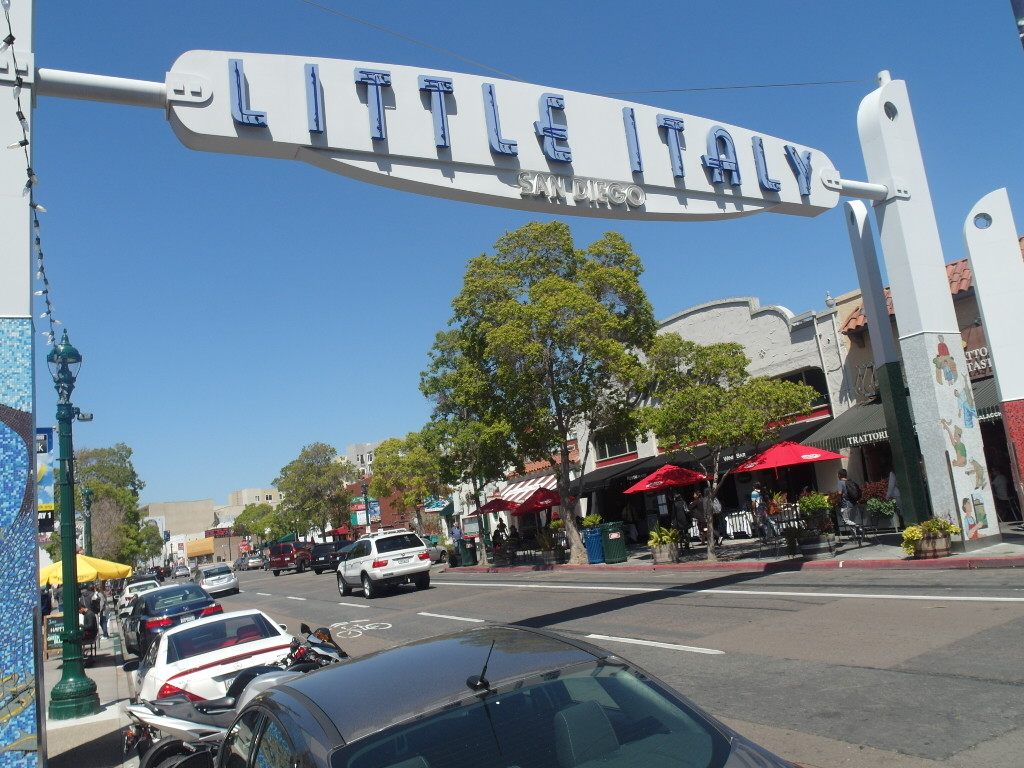 Little Italy sign on India Street San Diego California