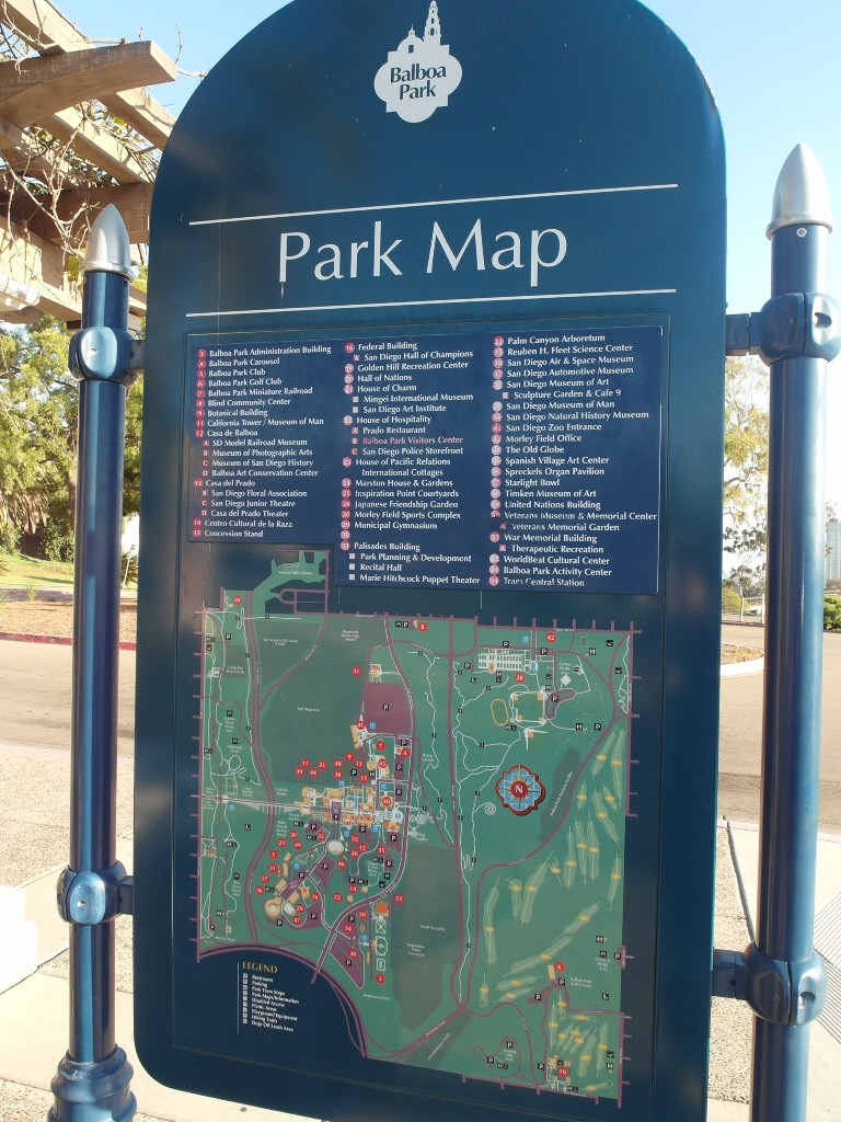 Balboa Park Map San Diego California
