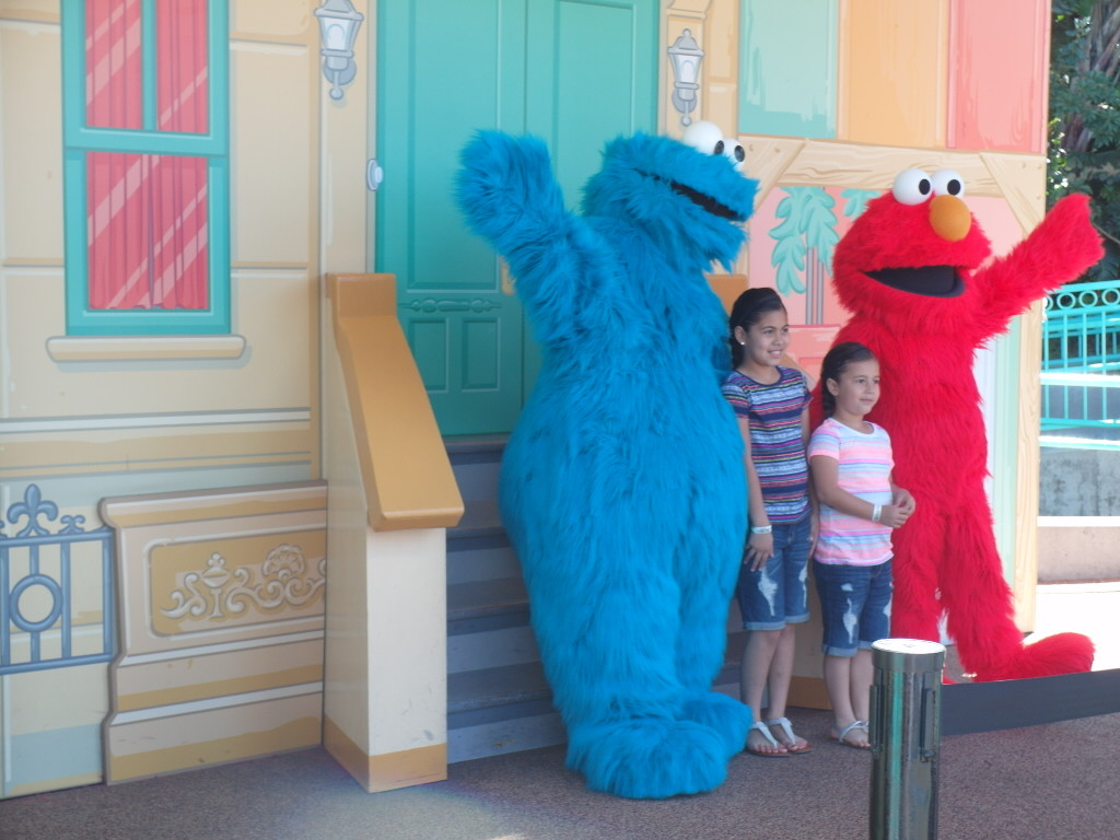 Cookie Monster and Elmo San Diego SeaWorld