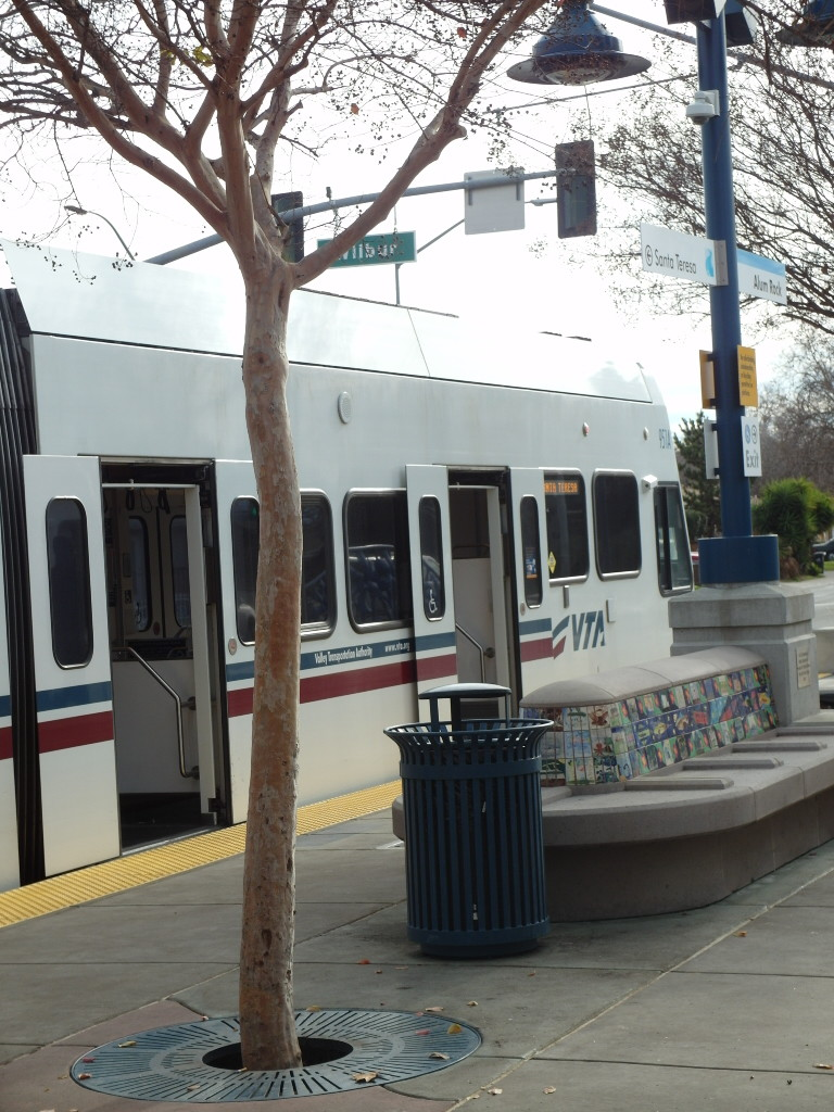 Light Rail from ALum Rock Station to LEvis Stadium