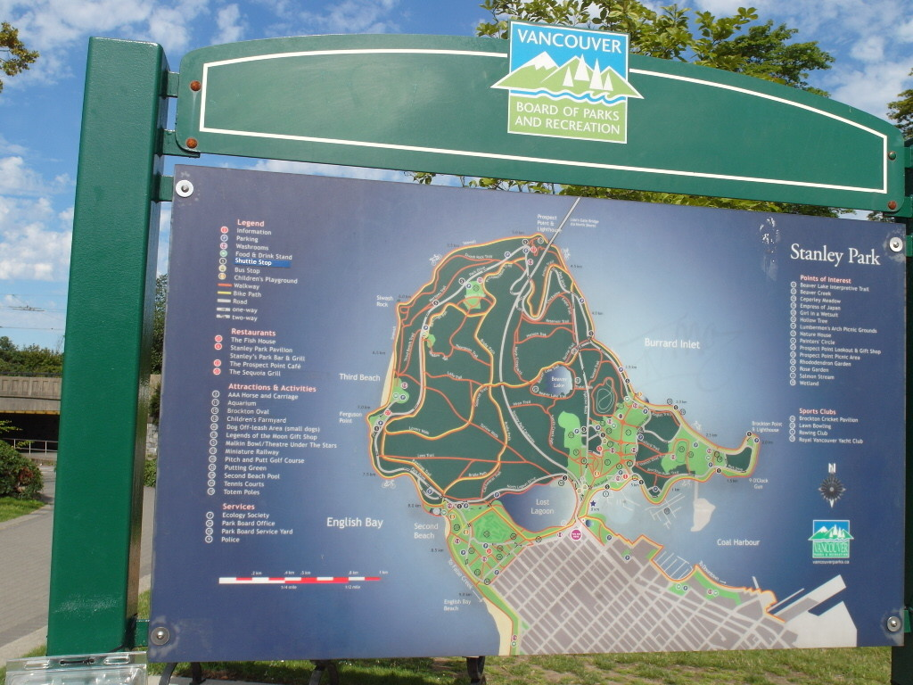 Map Stanley Park Vancouver Canada