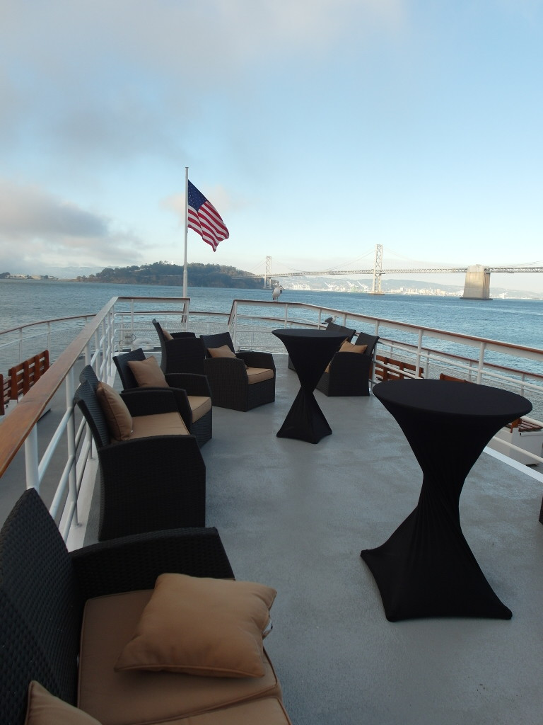 Upper Deck of California Hornblower San Francisco Bay Sunset Dinner Harbour Cruise