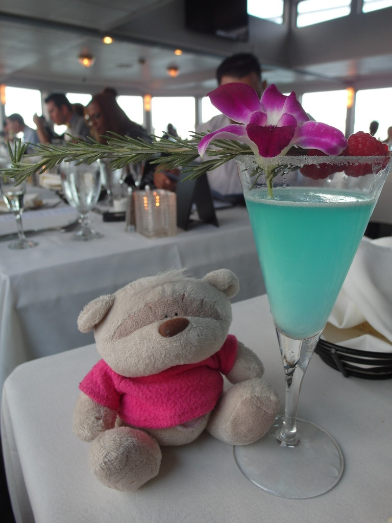 Blue Bay Lemon Drop Martini California Hornblower San Francisco Bay Sunset Dinner Harbour Cruise