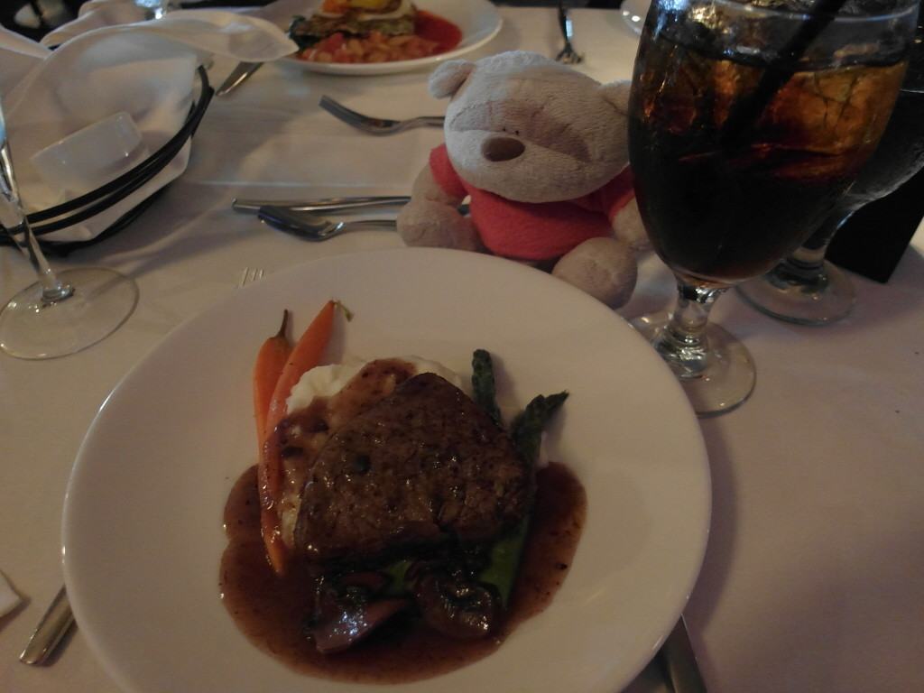 Porcini Crusted Petit Filet Mignon California Hornblower San Francisco Bay Sunset Dinner Harbour Cruise