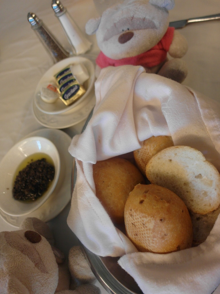 Warm bread with Olive Spread