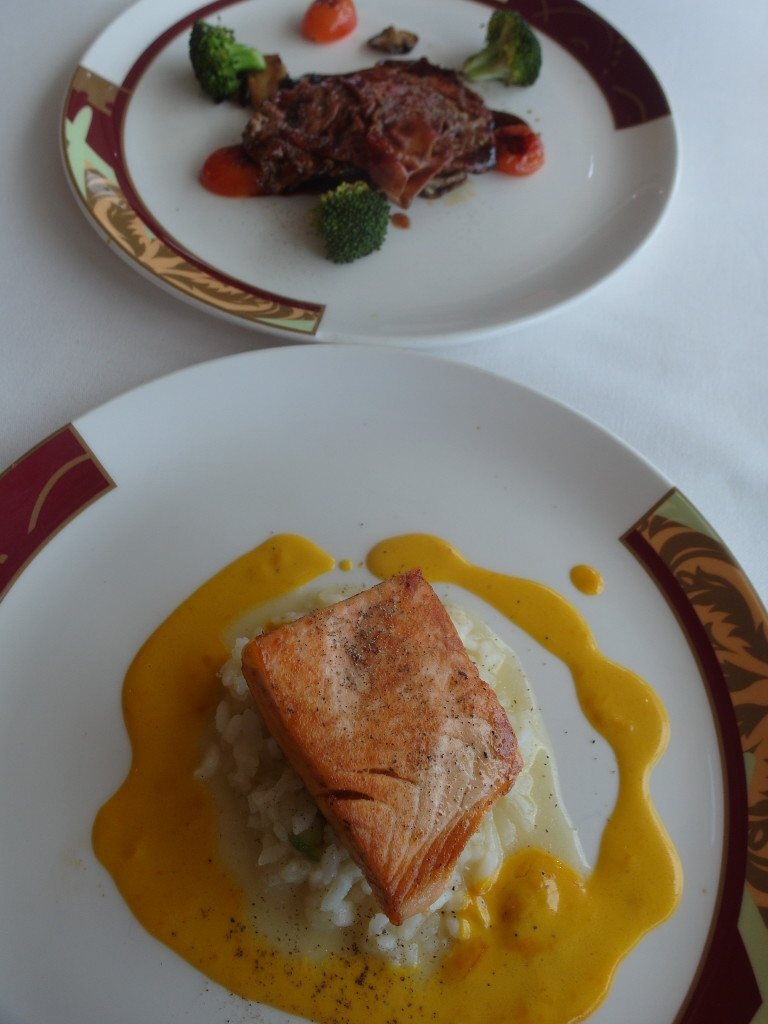 Salmon Risotto, Veal