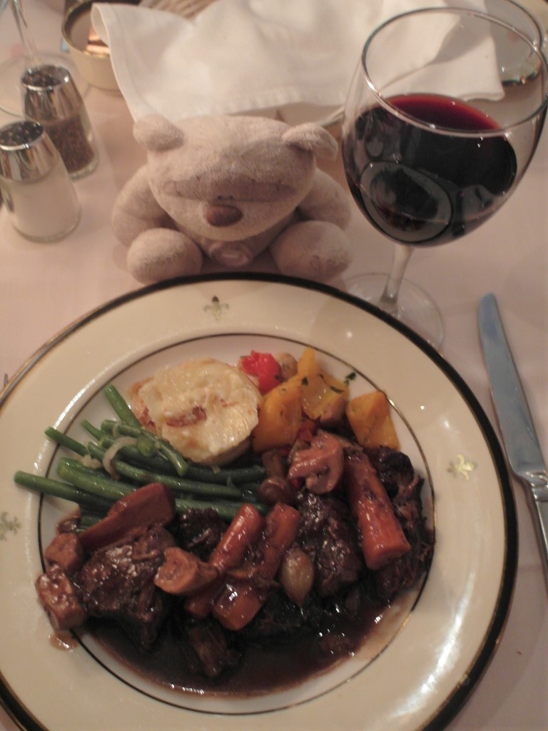 Boeuf Bourguignon (Chunks of Beef Cooked in Red Wine with Onions &Mushrooms) Jeanne d'Arc Restaurant