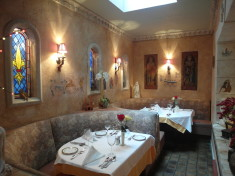 Cozy seats at Jeanne d'Arc Restaurant