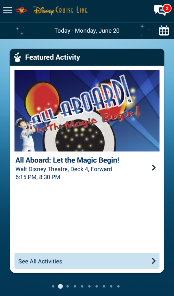 Program Disney Cruise Line App