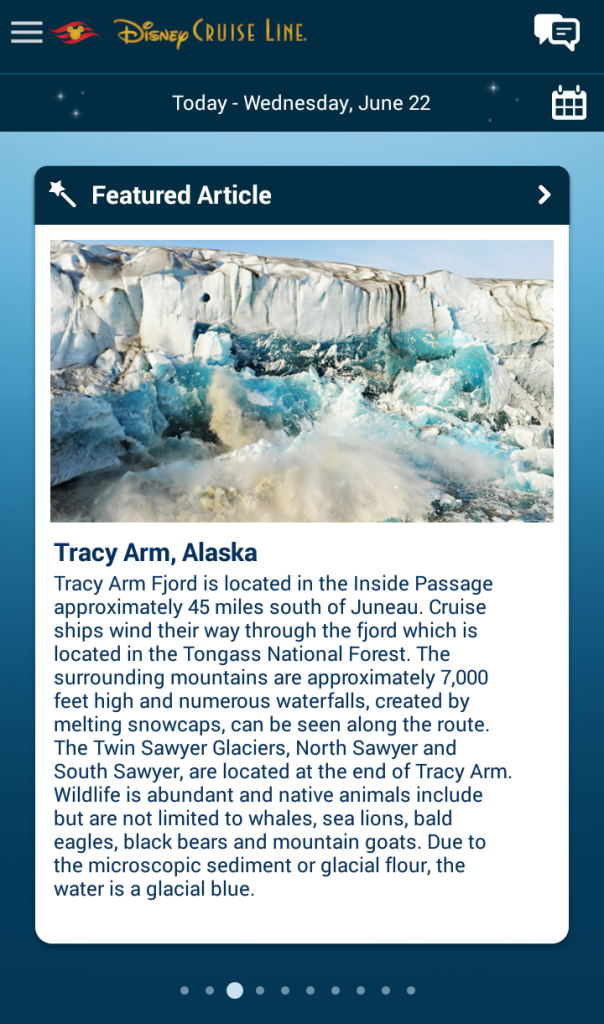 Featured Article of Tracy Arm Alaska
