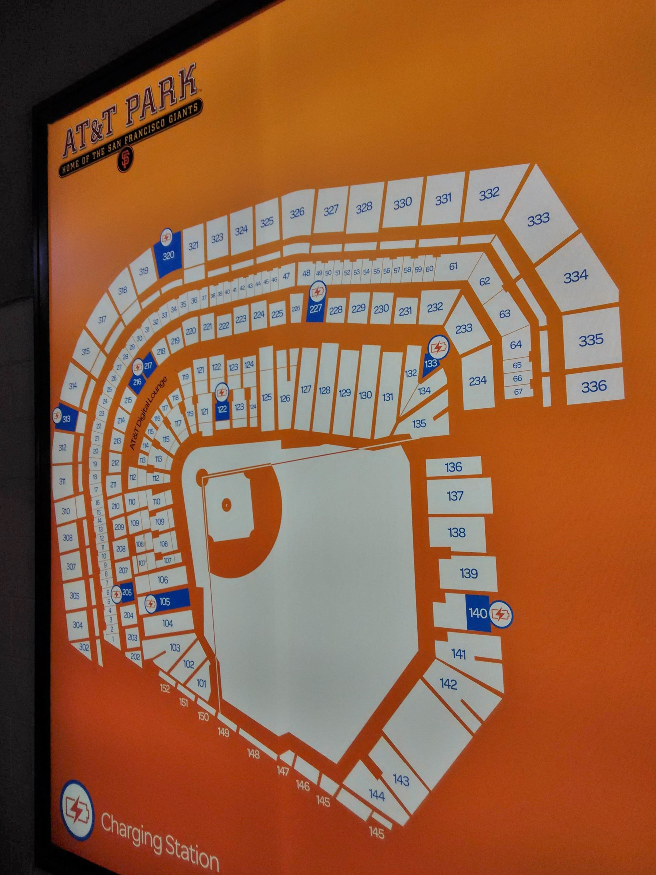 Map AT&T Park San Francisco Giants