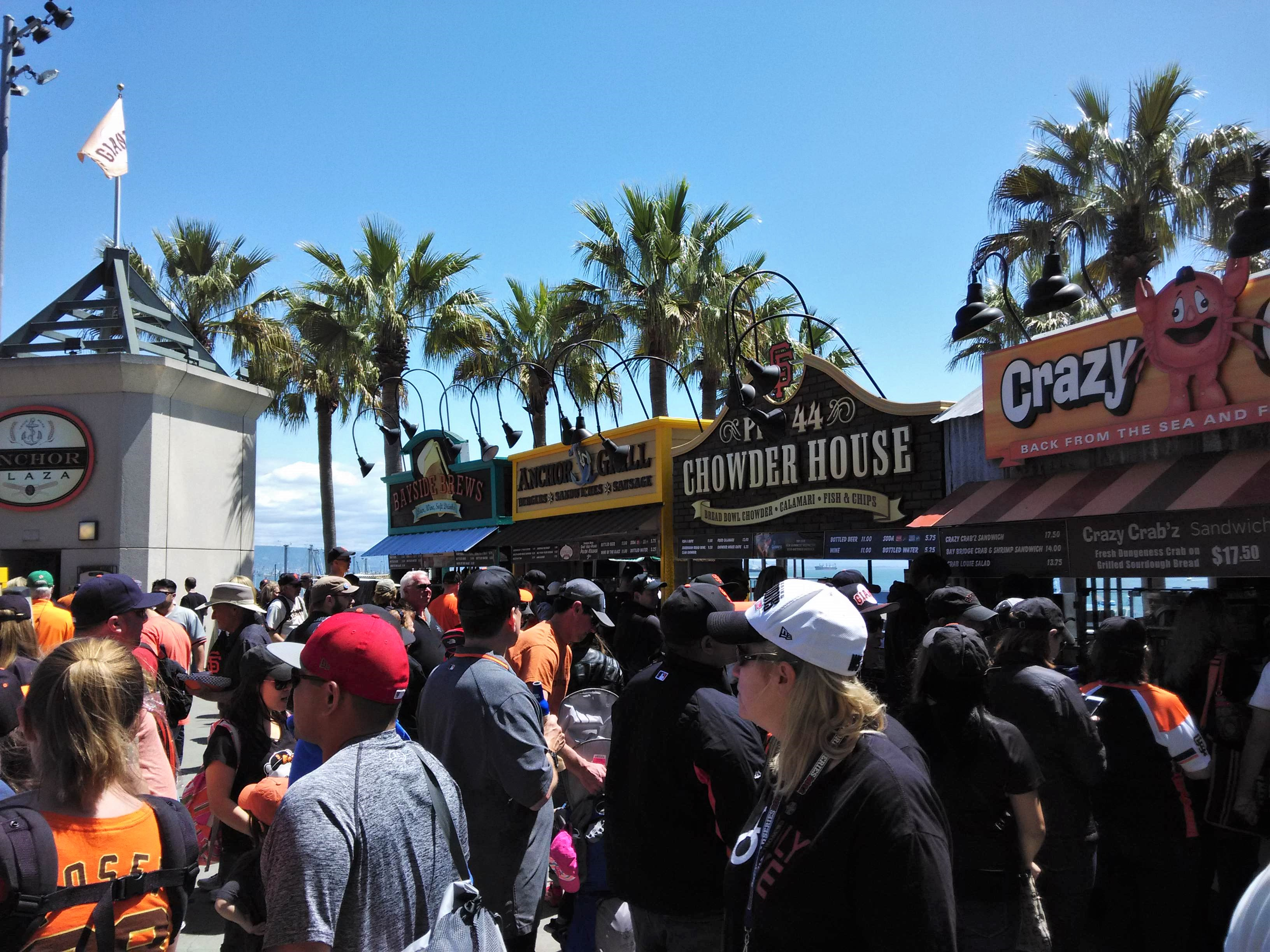Outdoor Food Stands AT&T Park