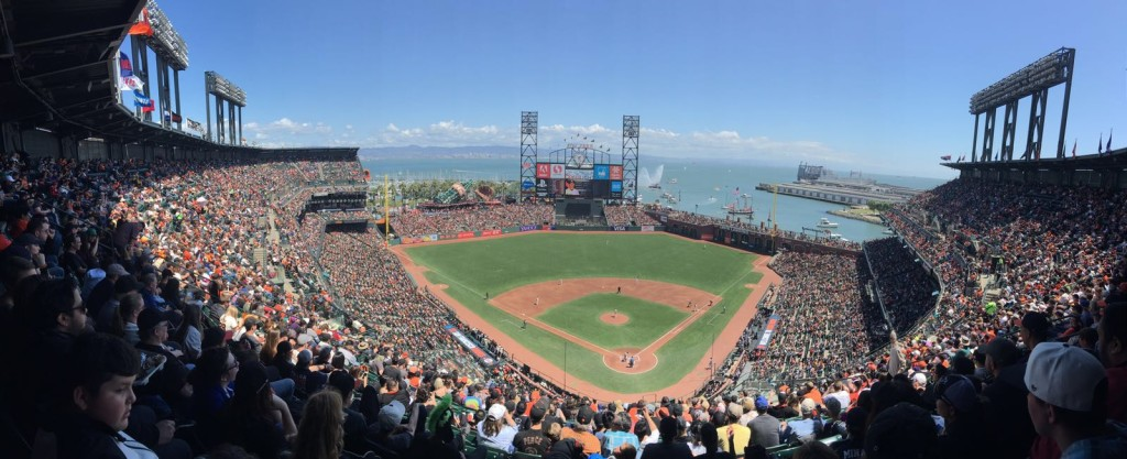 Panorama of AT&T Park San Francisco Giants