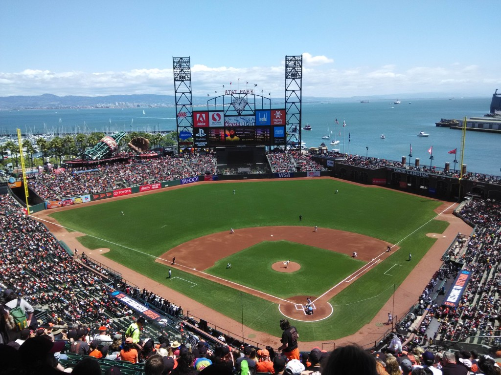 Catching the san francisco giants live at at t park for Dining options at at t stadium
