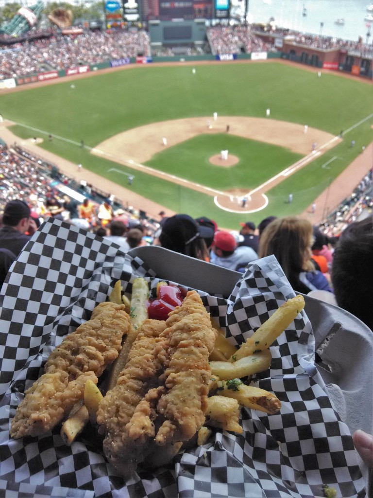$12.75 Chicken tenders and garlic fries AT&T Park San Francisco Giants