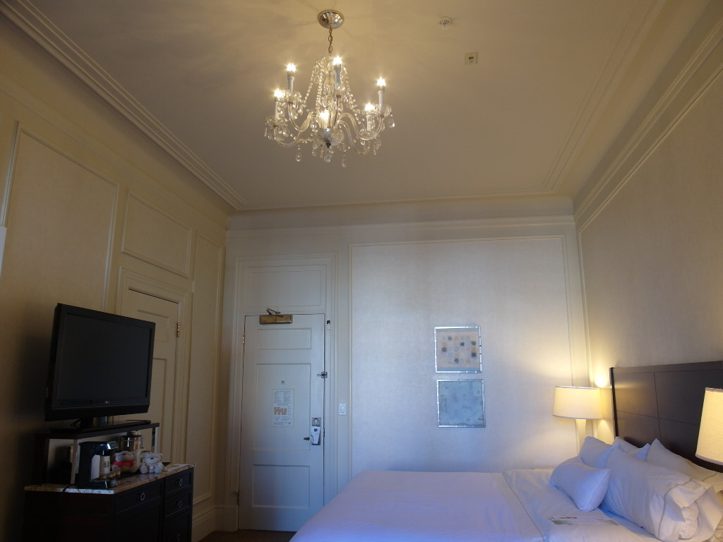 The Westin St. Francis Classic Room Chandelier Overlooking Union Square San Francisco