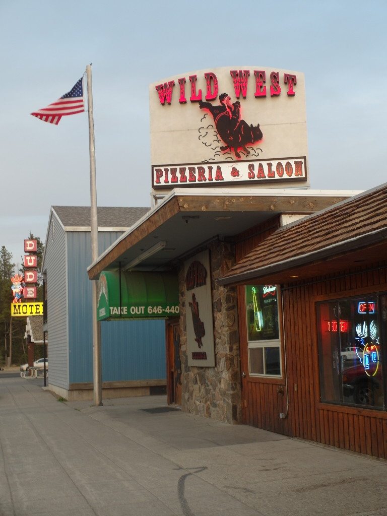 Entrance Wild West Pizzeria and Saloon West Yellowstone